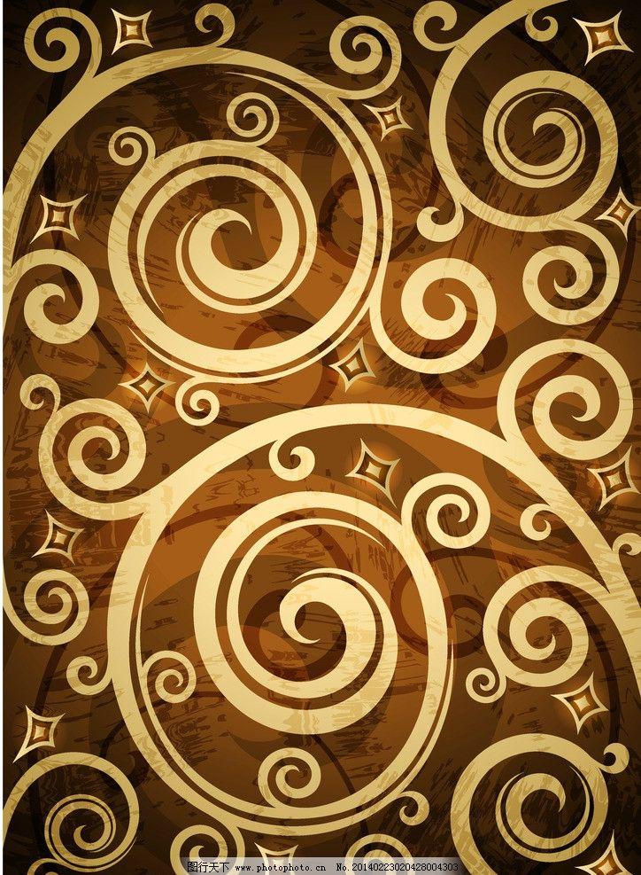手绘花纹 精美花纹 抽象花卉 豪华背景 欧式花纹 欧式古典花纹