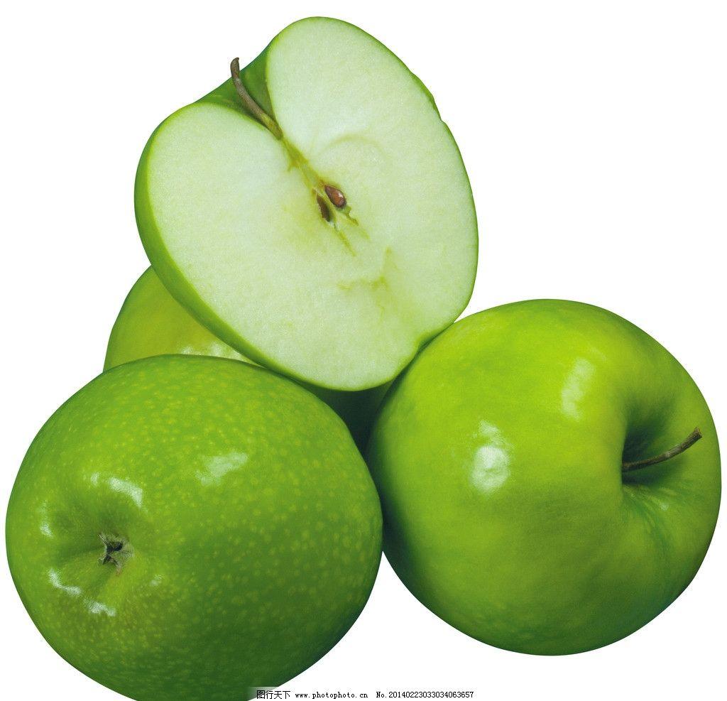 苹果 青苹果 切开 一半 创意水果 进口水果 水果静物 水果 营养 apple