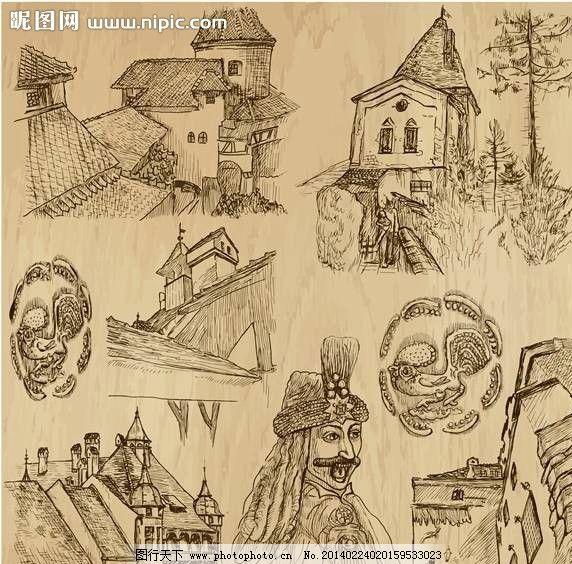 建筑手绘设计图片_其他_标志图标_图行天下图库