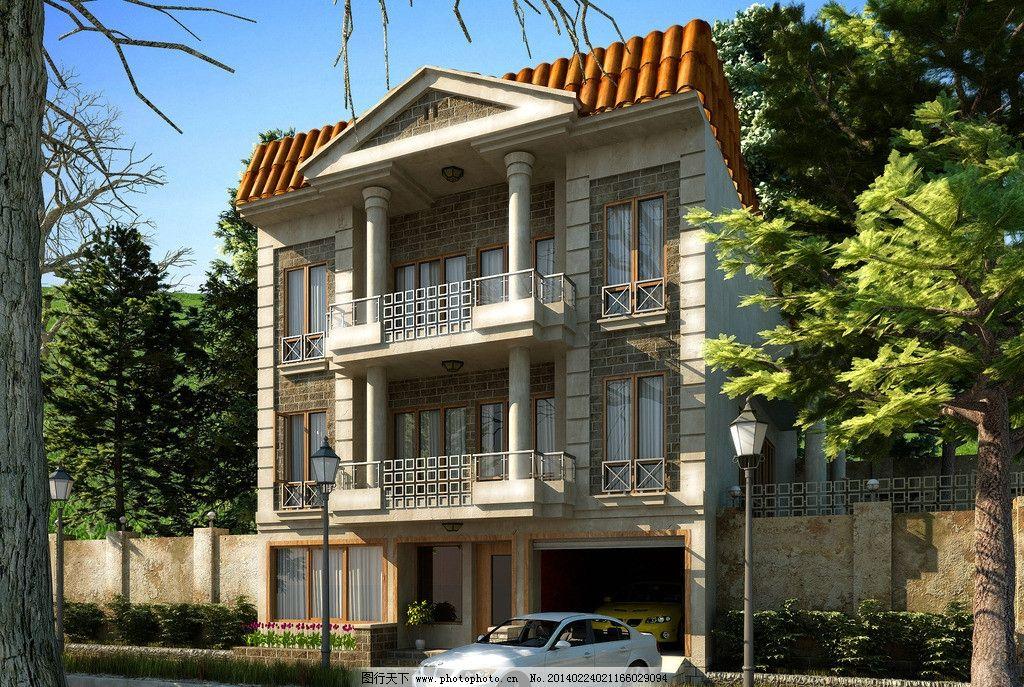 欧式别墅设计效果图 国外别墅设计
