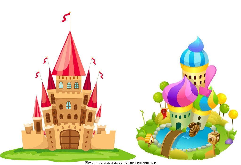 婚庆 童话婚礼 卡通背景 卡通城堡 城市 宫殿 公主 灰色 建筑 通 房子