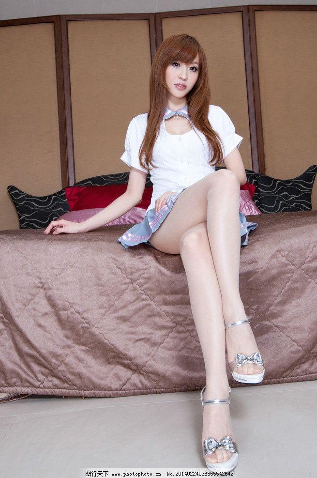 长腿学妹 高清 可爱学生装 性感学生 短裙 cosplay 可爱 清纯 丝袜