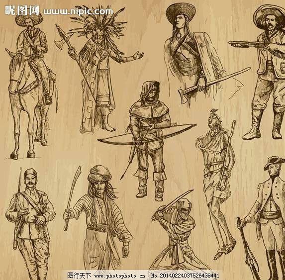 战士手绘设计图片