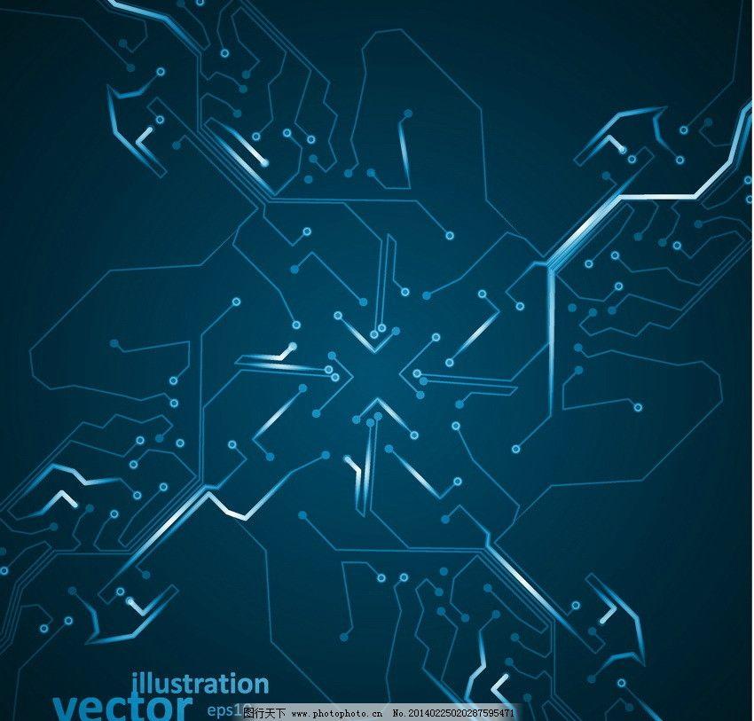 电路图科技背景 动感 蓝色 科技 电路 线路 信息 思维 创新 创意 线条