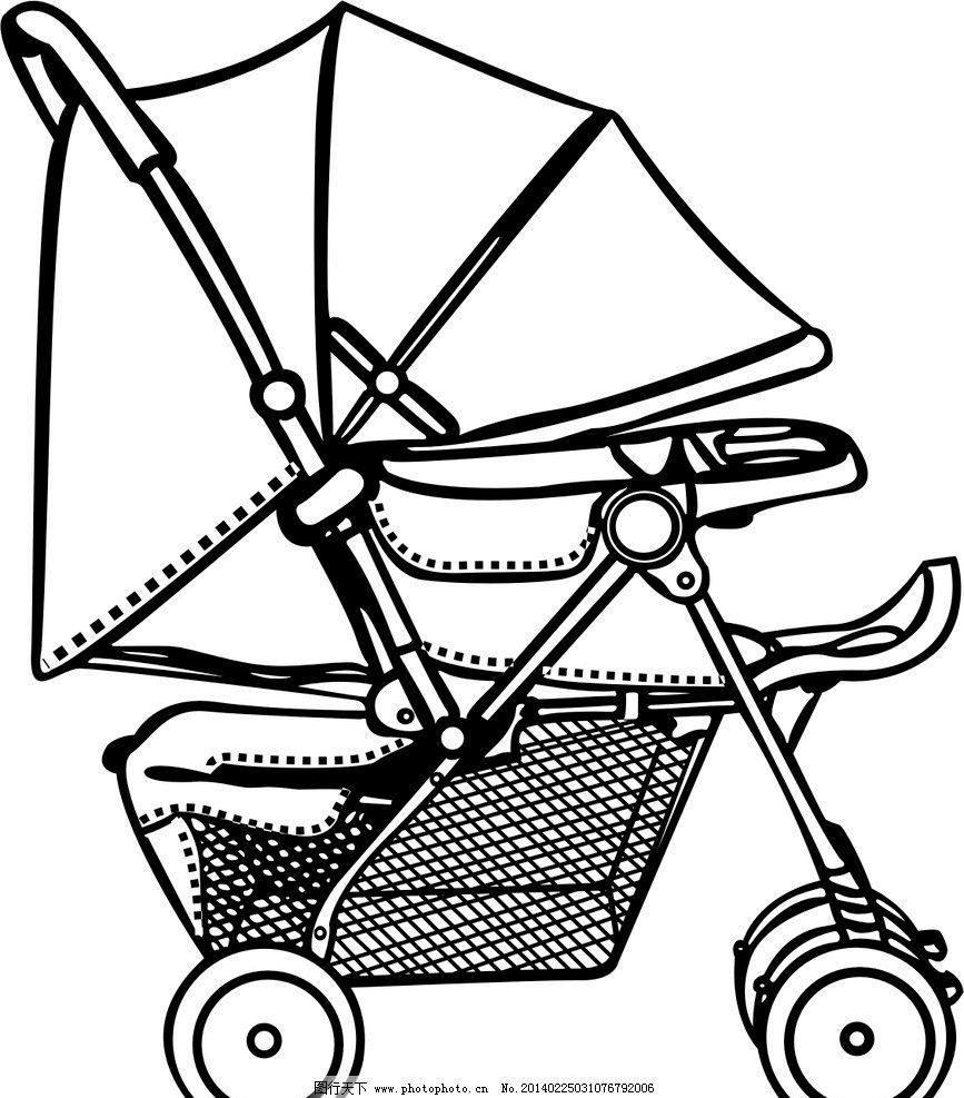 童车宣传海报手绘