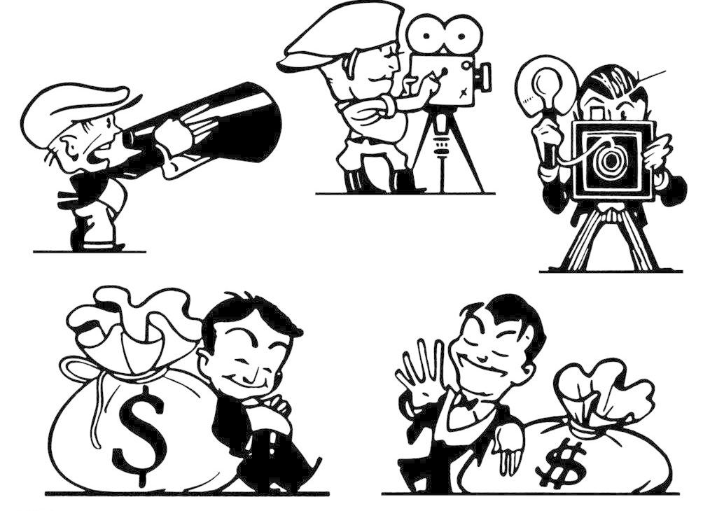 商业插图 插图 插画 手绘插图 漫画 拍电影 老相机 商务 导演 摄影