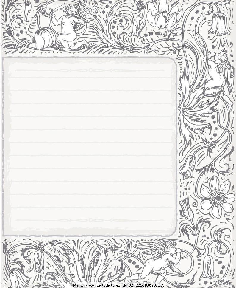 底纹边框 豪华背景 花边 花边花纹 手绘花纹矢量素材 手绘花纹模板