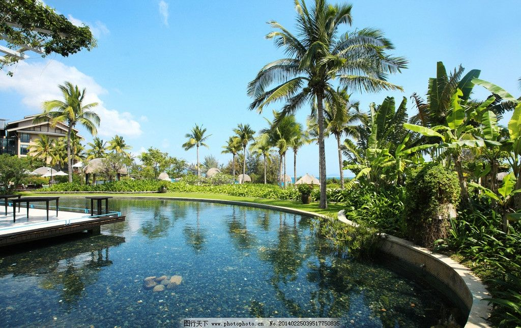 三亚 旅游 自然 阳光 游泳池 别墅 园林建筑 建筑园林 摄影 72dpi jpg
