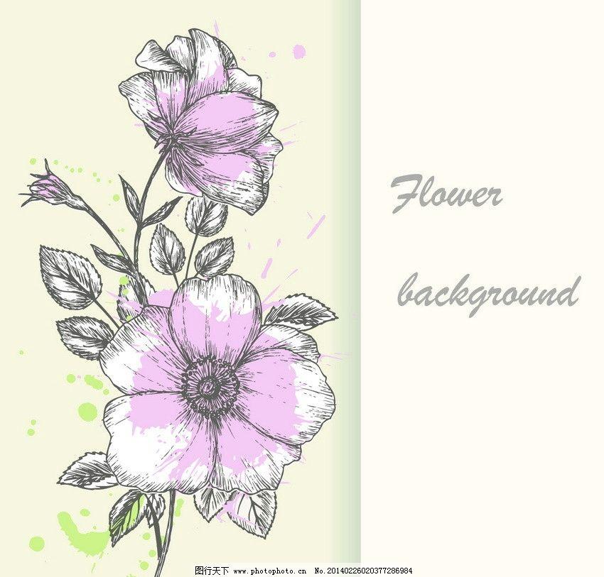 手绘鲜花刺绣 鲜花 花朵 刺绣 古典花纹 欧式花纹 欧式 古典 怀旧