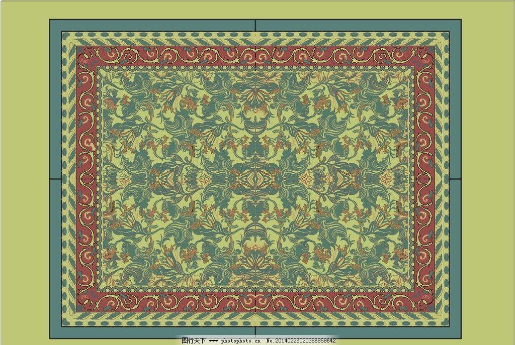 欧式花纹矢量地毯图片