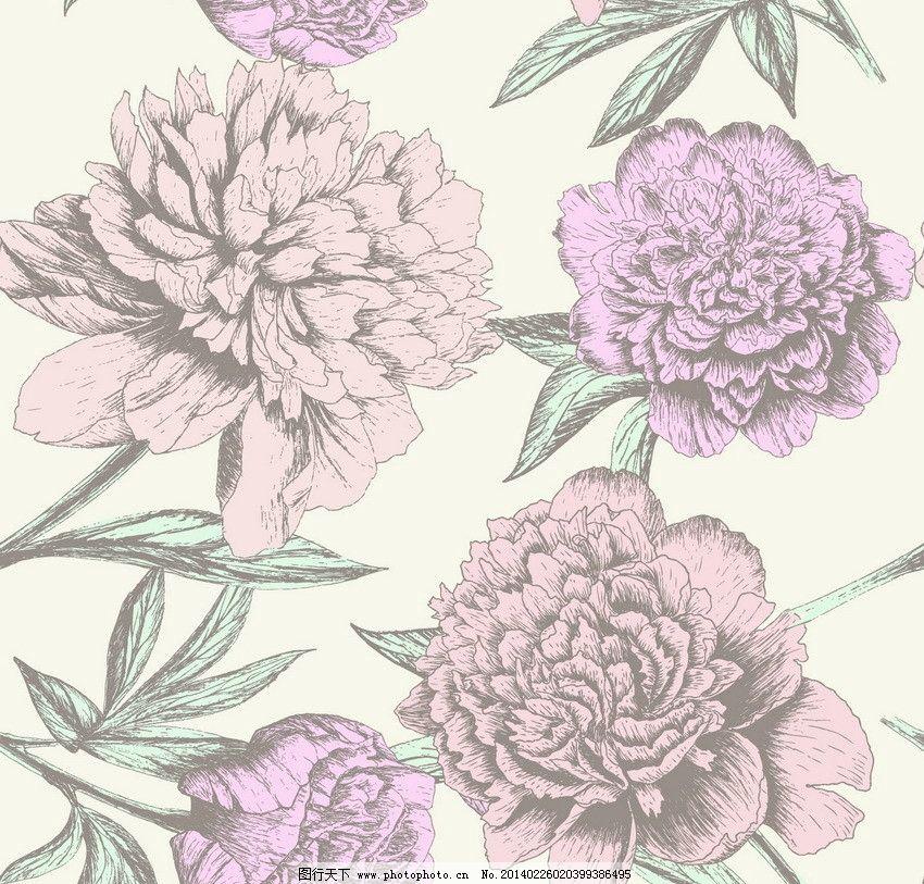 手绘鲜花 花朵 刺绣 古典花纹 欧式花纹 怀旧 复古 花卉 贺卡