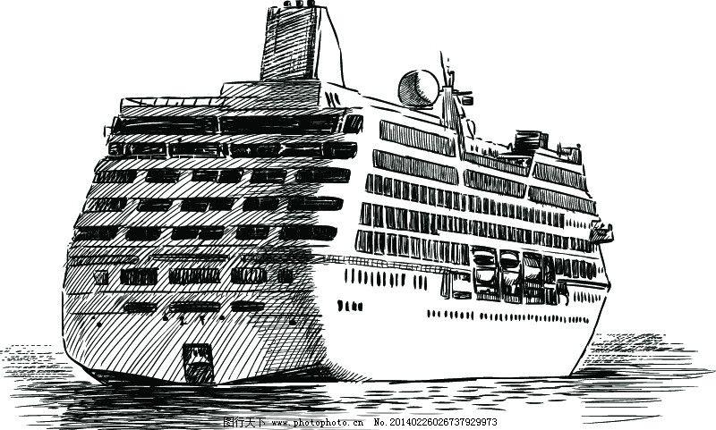 游轮 轮船 邮轮 船 船只 手绘 运输 海洋 货轮 图标 交通工具 矢量