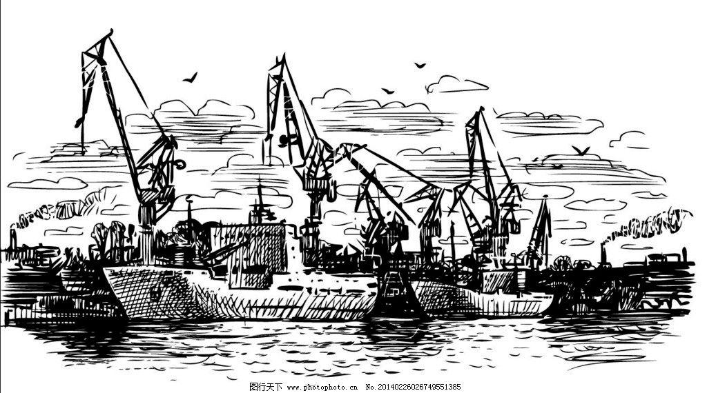 轮船 游轮 邮轮 船 船只 手绘 运输 海洋 货轮 图标 交通工具 矢量