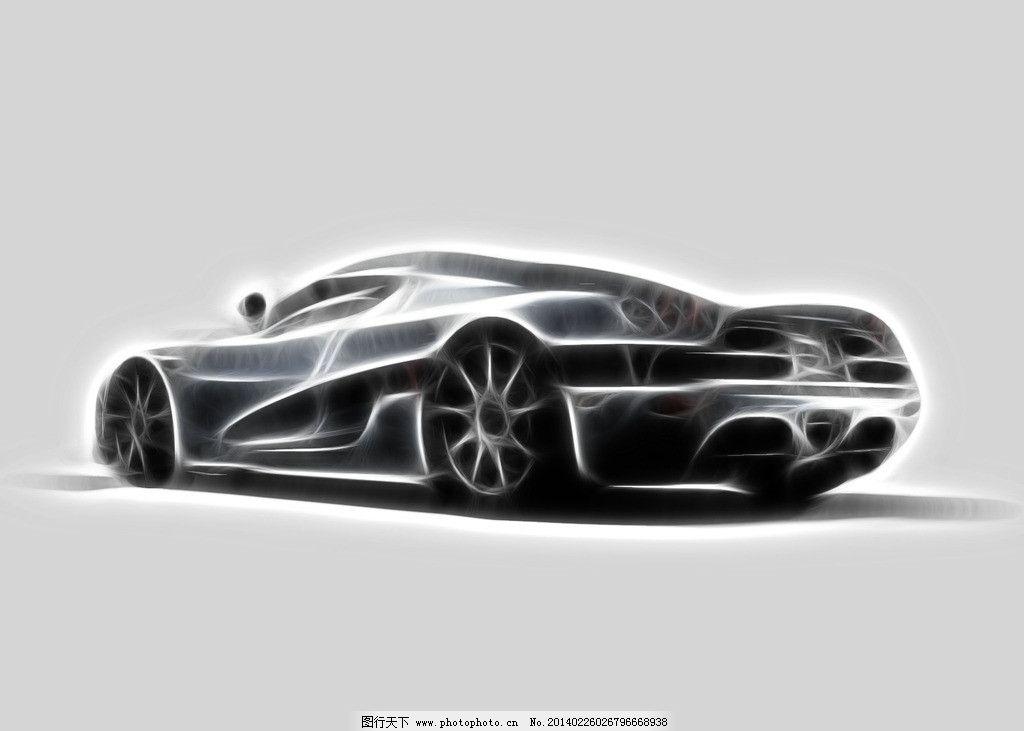 手绘跑车 手绘 跑车 铅笔 立体铅笔画     交通工具 现代科技 设计