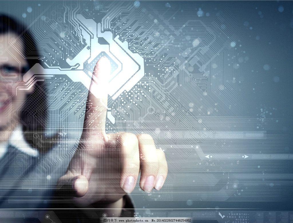 触屏 指触 商业 电路板 电子产品 商务 数字 科技 触摸屏 手指 数据