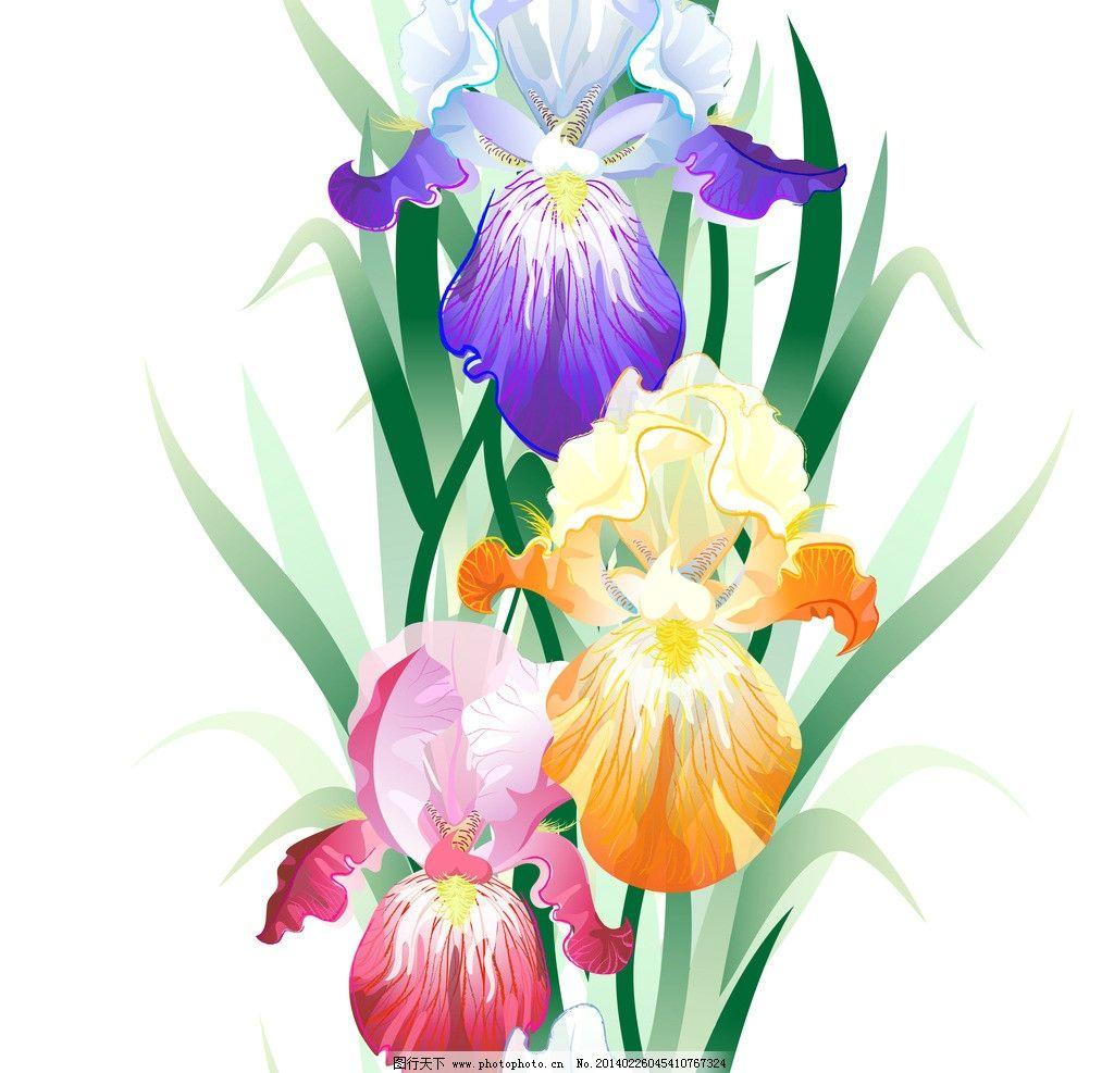 手绘花卉 花纹花卉 鲜花 花草背景 生物世界 绘画书法 文化艺术