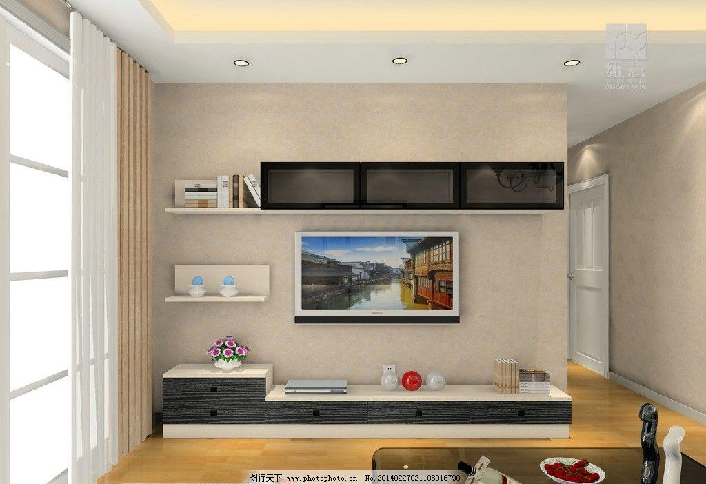 家装设计 电视 电视柜 茶几 吊柜 沙发 家装效果 3d家装中式效果图