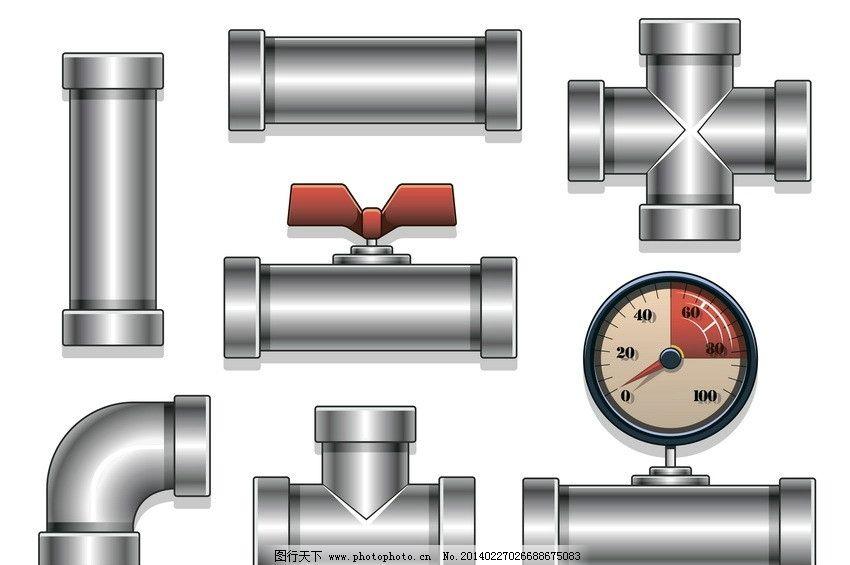 输油管道 输气管道 输水管道 管子 管业 工业 现代工业 现代科技 矢量