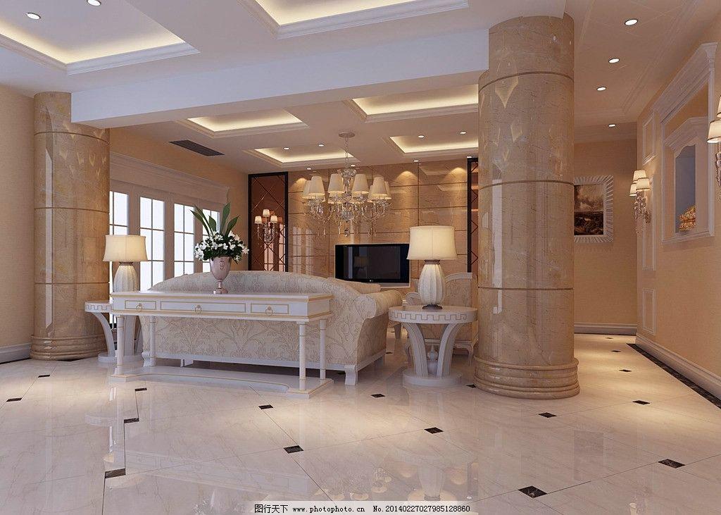 客厅电视背景墙效果图 装饰 家装 室内 设计 电视背景墙 室内设计