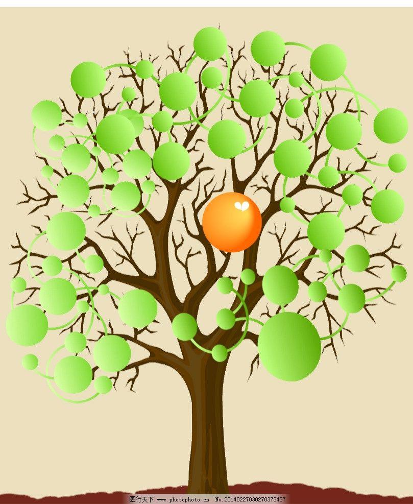 企业树 树 绿色 装饰 背景 展板模板 广告设计模板 源文件 150dpi psd
