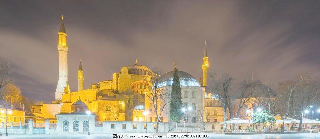 欧式城堡雪景摄影背景