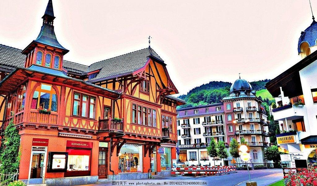 欧洲城市街景街道图片图片