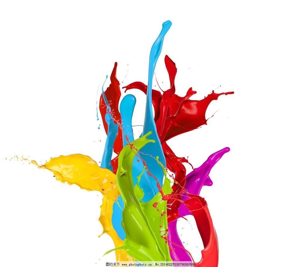 洒创意绘画代表美术的图案-颜料喷洒创意绘画