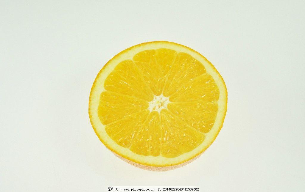 橙子 水果 橘子 两半 剖开 剖面 橘子瓤 摄影