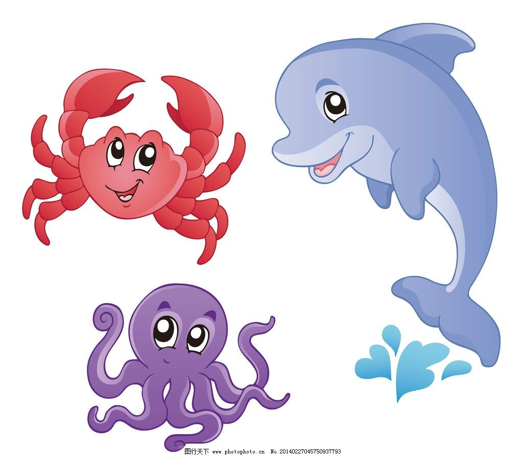 儿童画画大全简单漂亮 动物海豚