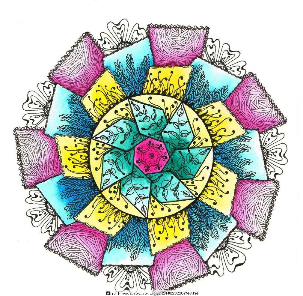 几何手绘插画图片