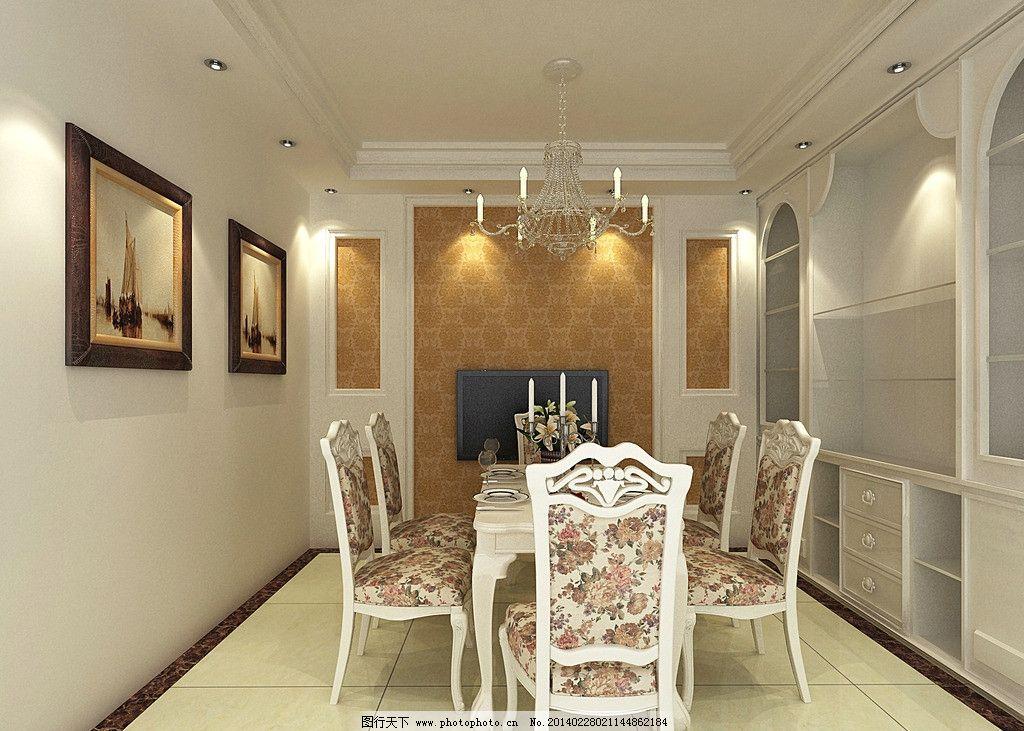 餐厅效果图 餐厅        推拉门 酒柜 玻璃 壁纸 瓷砖 挂画 吊顶 水晶