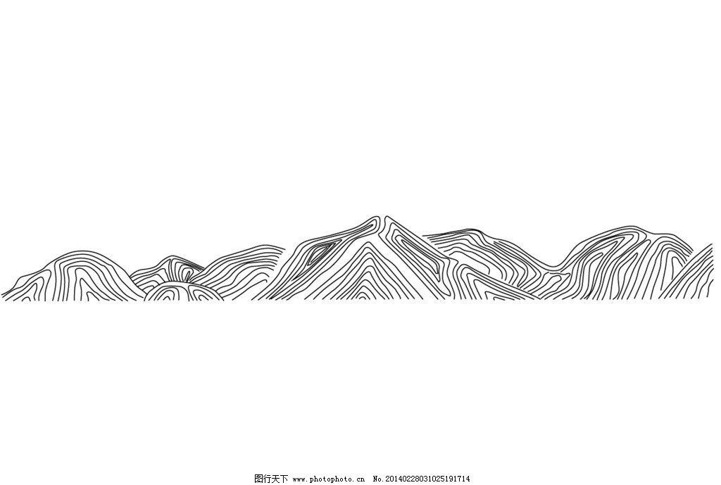 線條山 山線條 矢量素材 歐式花紋 符號 地產 建筑花紋 花紋花邊