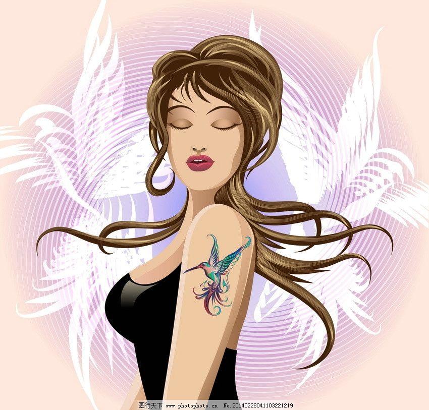 卡通美女 美女 女人 女孩 性感 贵妇 少妇 手绘 迷人 时尚女孩 时尚图片