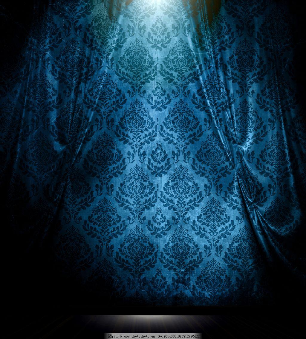 舞台背景 舞台背景免费下载 蓝色花纹 蓝色舞台 图片素材 背景图片