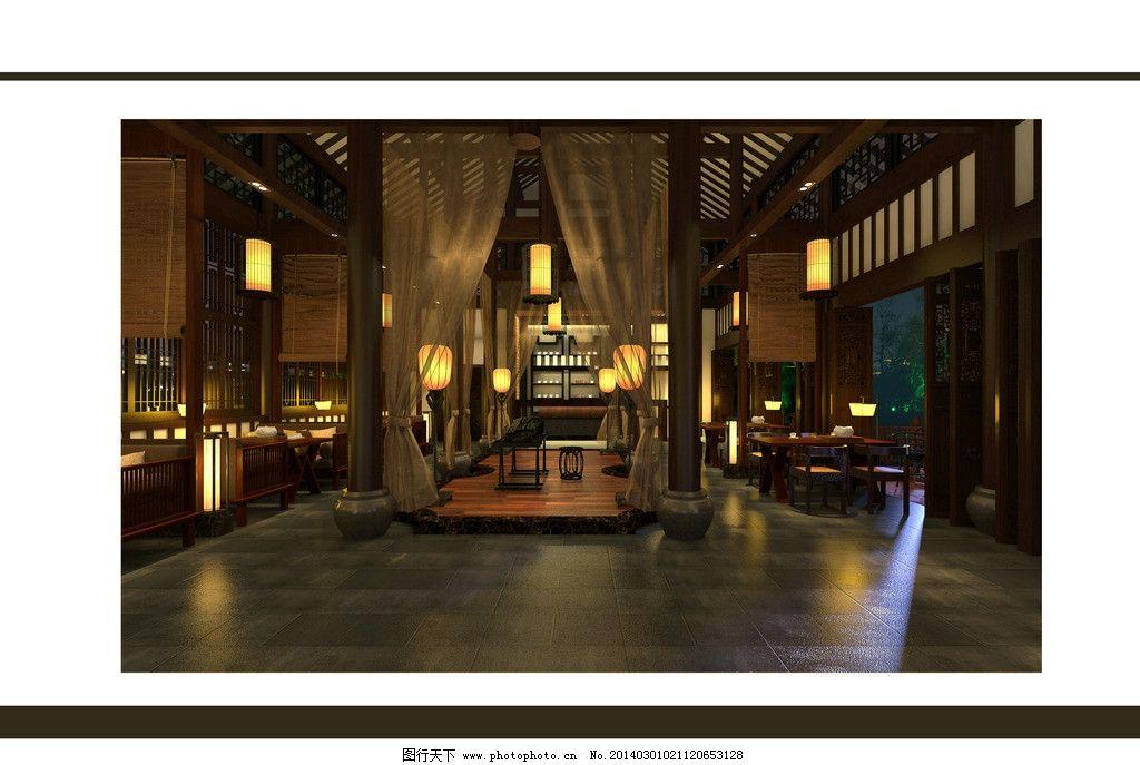 中式咖啡厅图片