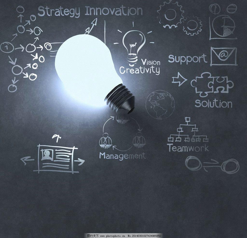 灯泡创意 灯泡 光明 领导者图片