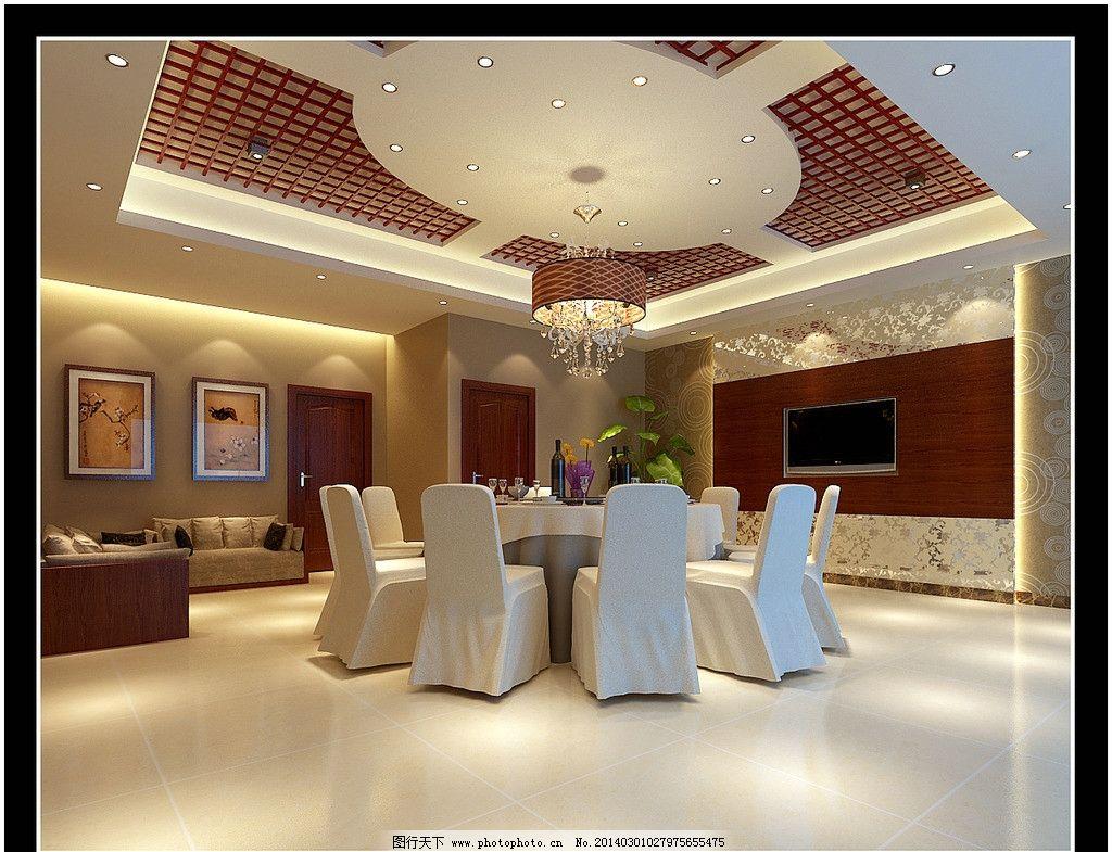 餐厅效果图 餐厅 酒店 包厢 酒楼 豪华 工装项目 室内设计 环境设计