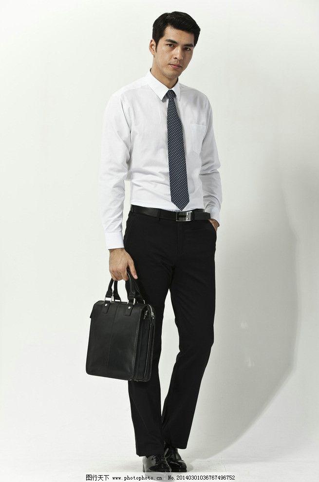 男士白衬衣模特