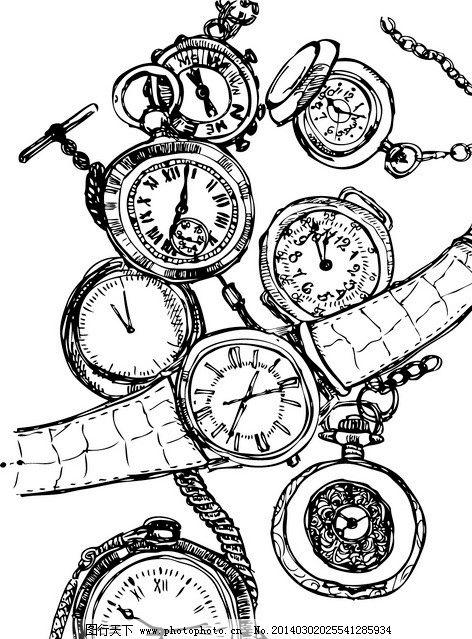 钟表简笔画图片大全