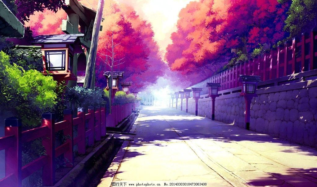 街道场景 动漫 街道 场景-动漫效果的城市街道图片图片