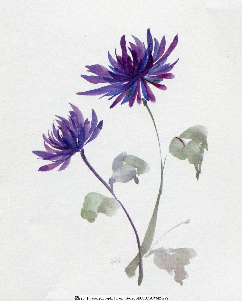 水彩花卉 花卉 花朵 花头 手绘 水彩 绘画书法 文化艺术 设计 720dpi