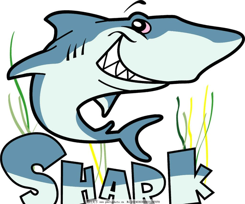 鲨鱼图片,文字 图案 创意 印花 排版 小图标 标识标志图片
