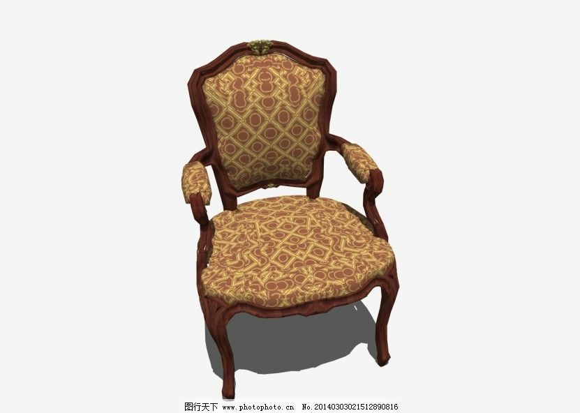 欧式椅 室内场景设计 展会效果图设计 室内小品 室内设计 环境设计