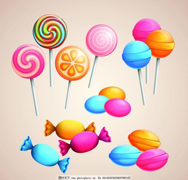 棒棒糖 彩色棒棒糖 甜蜜 零食 甜点 糖果 矢量 eps 餐饮美食 生活百科