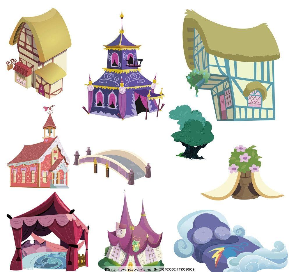 卡通房屋图片_游戏界面_ui界面设计_图行天下图库