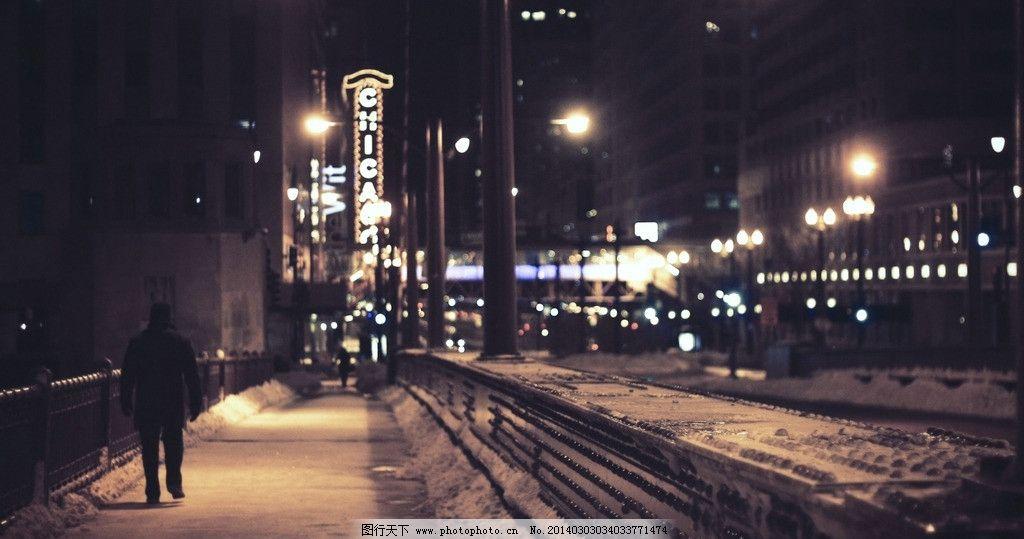 城市街道 城市 街道 夜景