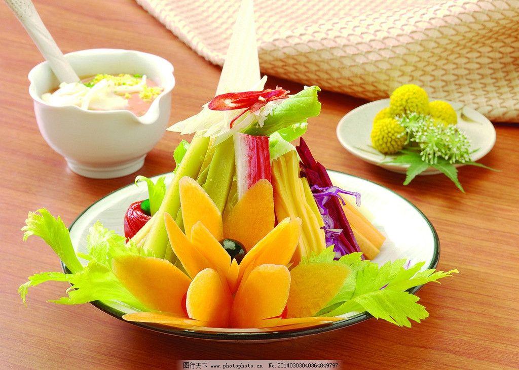 蔬菜沙拉 水果沙拉 海味沙拉 水果蔬菜 沙拉拼盘 西餐美食 餐饮美食图片