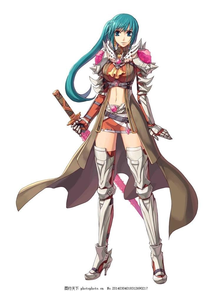 游戏原画 游戏人物 网游 游戏素材 仙侠 玄幻 美女 卡通 剑士