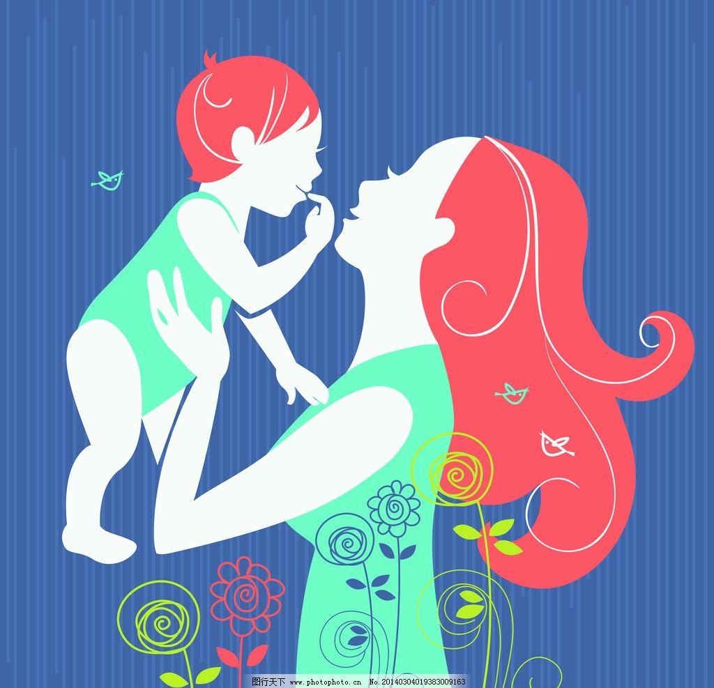卡通背景 儿童 小孩 手绘花卉 38 妇女节 矢量 节日素材 eps 节日庆祝