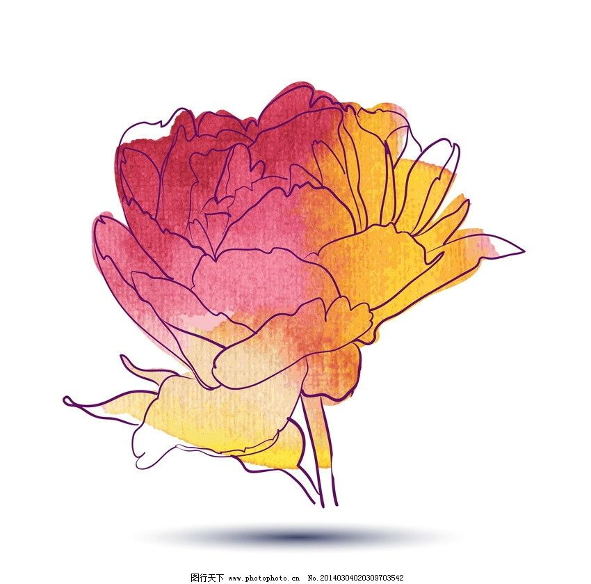 手绘鲜花图片